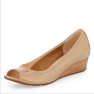 Cole Haan Nike Air Tali peep toe shoes nude sz 8